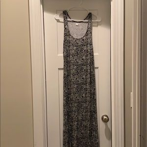 Old Navy Black Floral Maxi Dress Size M